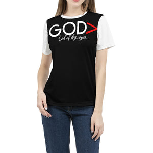God is greater Women's Tee