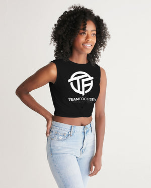 TF Black Women's Twist-Front Tank