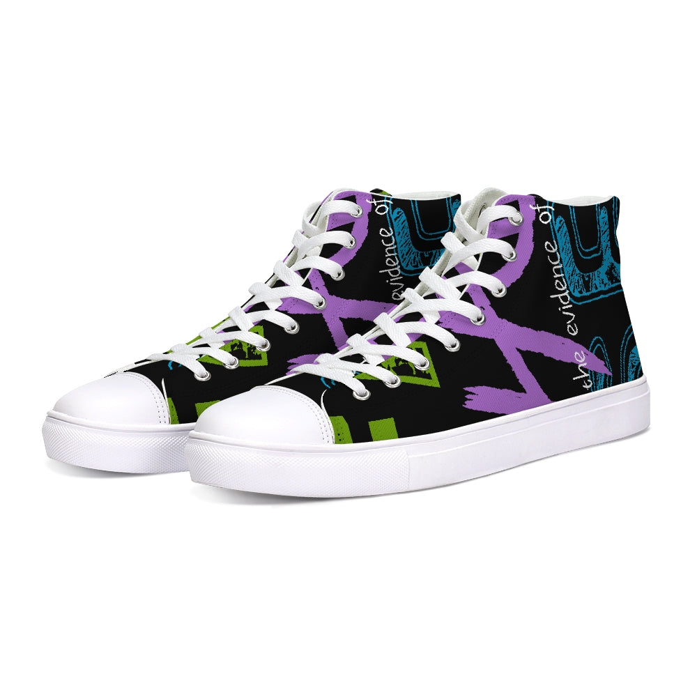 Faith-Hope-SEEN Hightop Canvas Shoe
