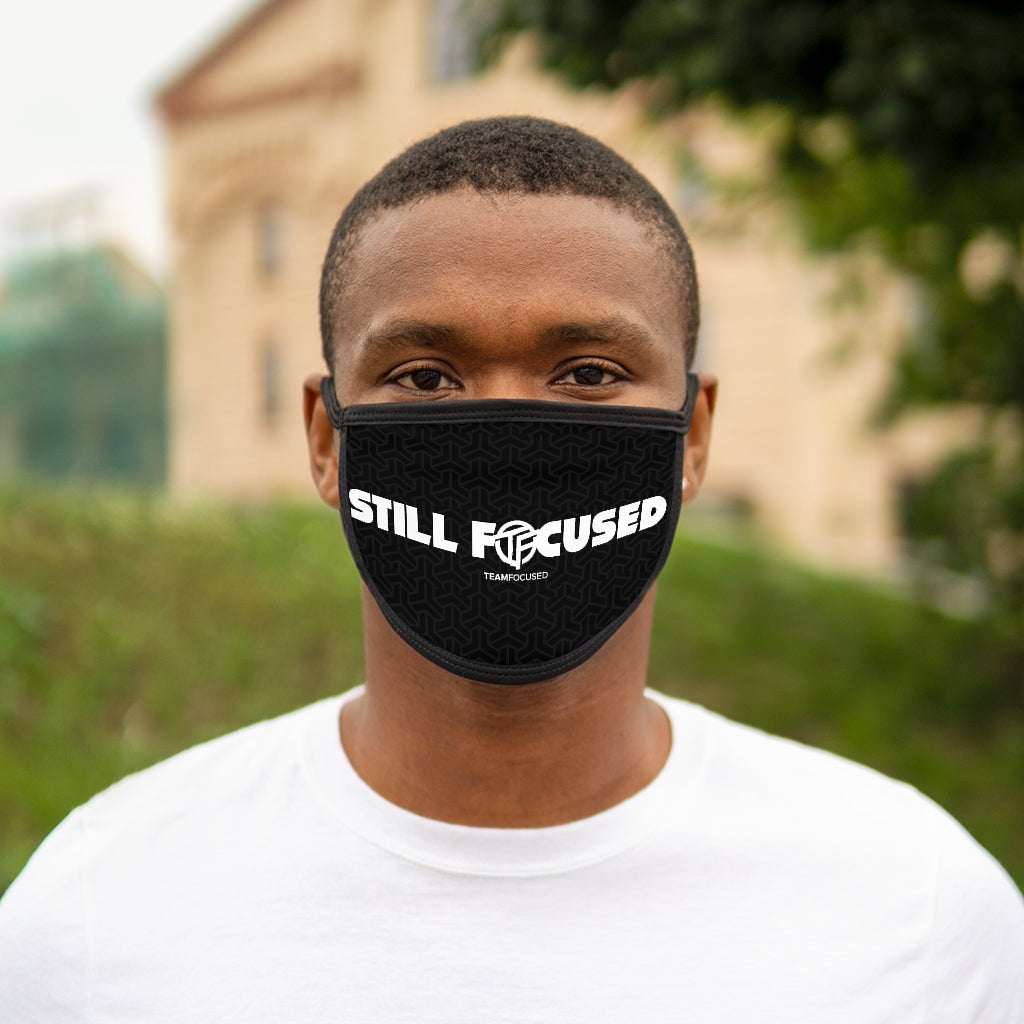 Still Focused Mixed-Fabric Face Mask