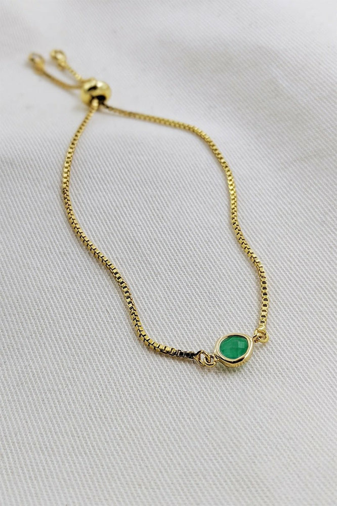 Emerald Green Gold Bracelet