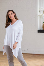 ANEKA DOUBLE ASYMMETRIC TOP WHITE