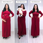 Bump to Baby Magical Maxi Dress - Burgundy