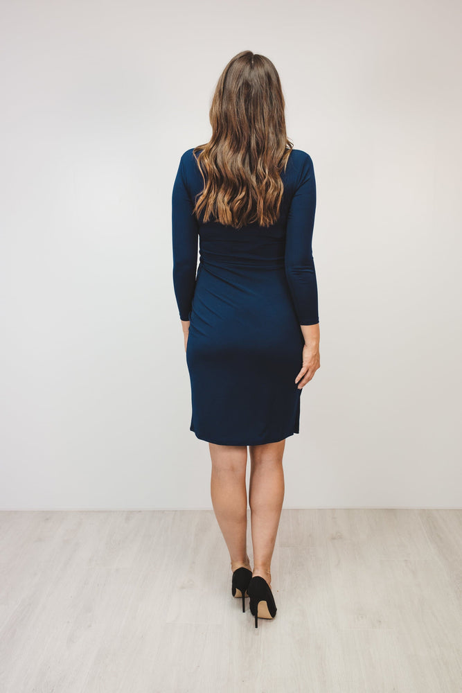 Bump to Baby Classy Classic Shift Dress - Navy