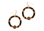 Leopard Print Circle Earrings