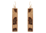 Leopard Print Rectangular Drop Earrings