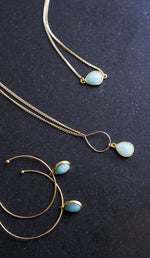 Amazonite Gold Teardrop Bracelet