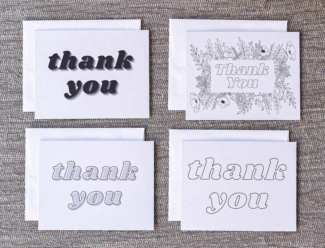 Thank You Cards 8PCK — Variety Pack