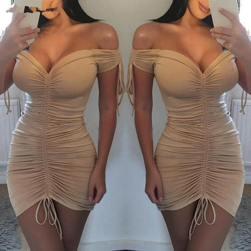 UK Women Bodycon Pencil Dress Ladies Summer Clubwear Mini Dress Women Summer Sexy Dresses Polyester V-neck Dresses