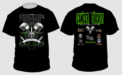 CANCER SUCKS 2017 HANDLEBARS & HOT RODS EVENT T-SHIRT