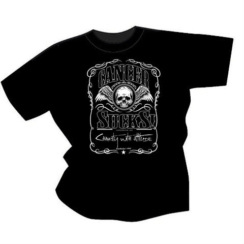 CANCER SUCKS! WHISKEY T-SHIRT