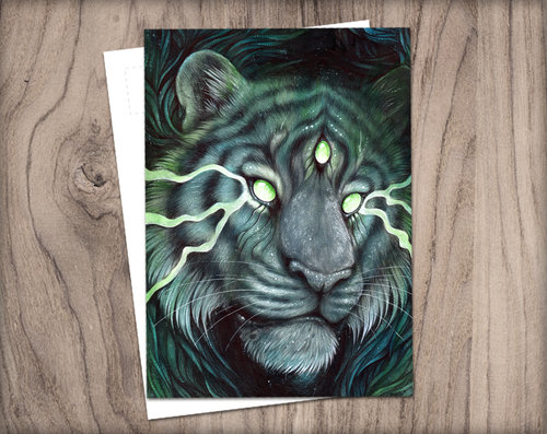 Three Eyed Tiger | Postcard