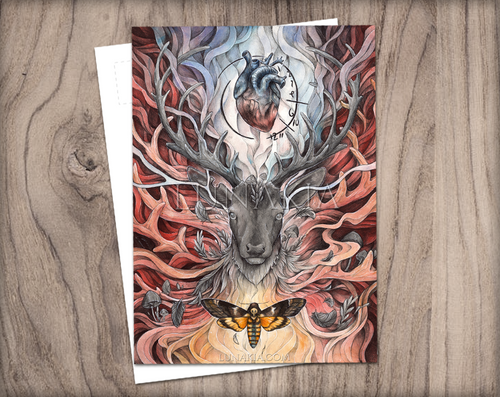 The Raven Stag | Postcard