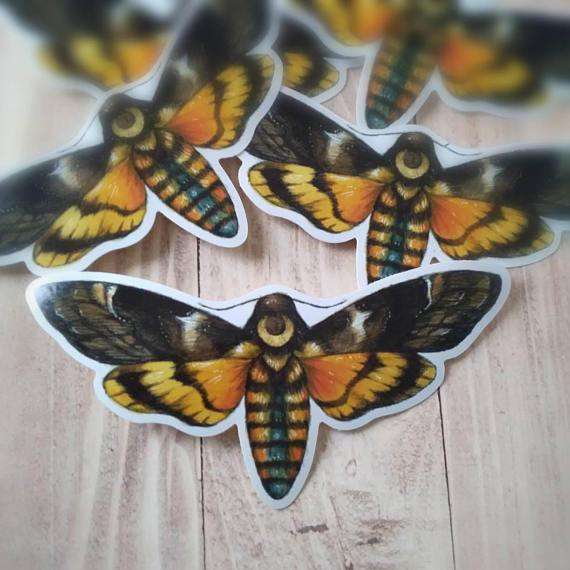Moon Hawk Moth | Sticker
