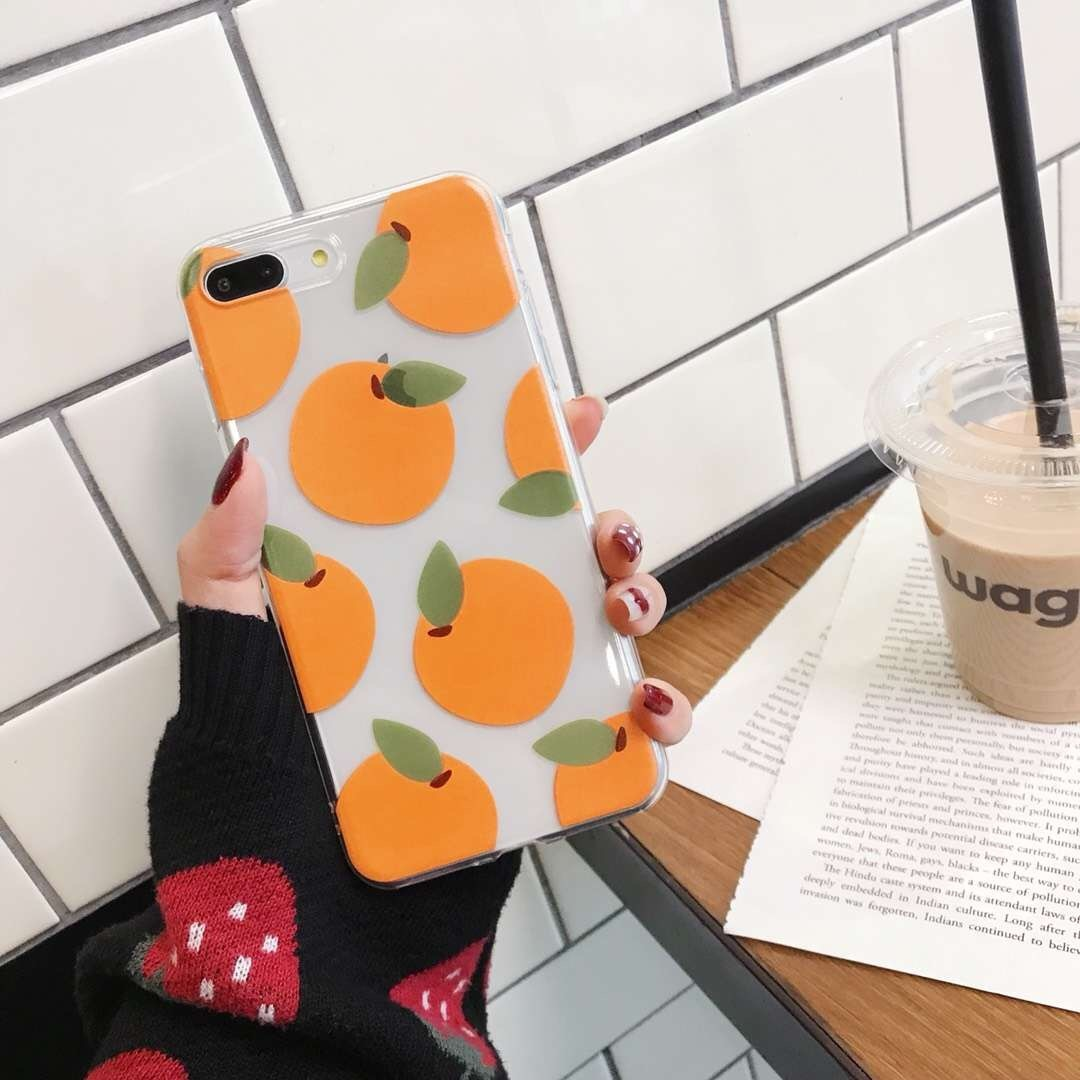 Transparent Orange Phone Case 'Freshly Squeezed'