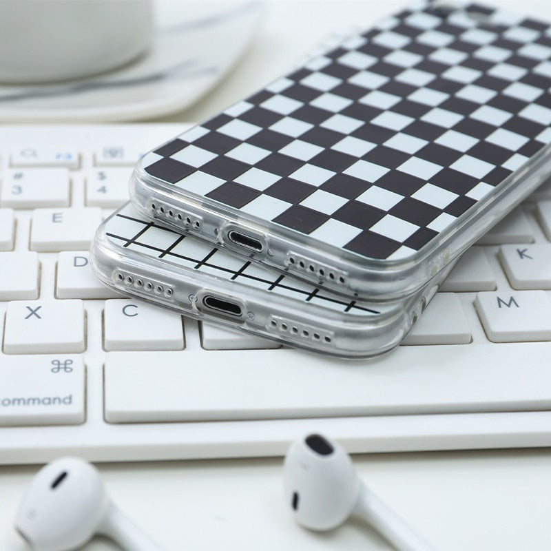 Checker Print Phone Case 'Playing Games'