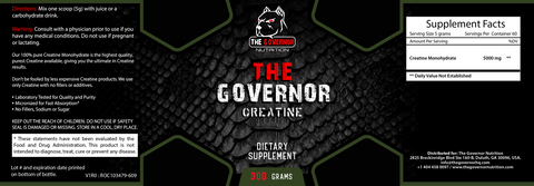 The Governor Creatine