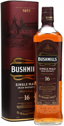 bushmills 16 year old single malt irish whiskey