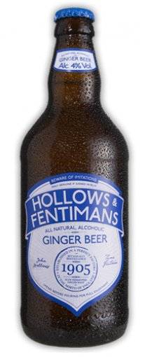 Hollows & Fentimans - Superior Ginger Beer 4% ABV 500ml Bottle