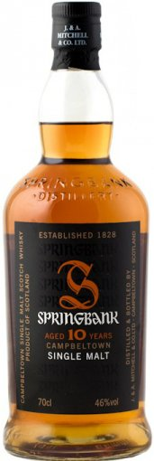 springbank 10 year old single malt scotch whiskey