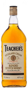 teachers highland cream blended scotch whiskey