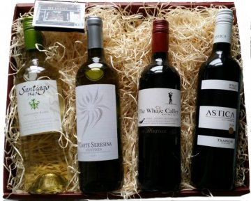 four bottle wine hamper