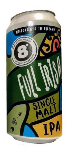 eight degrees the full irish single malt ipa