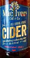 MacIvors Alcohol Free Medium Dry Cider