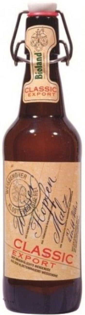 Martins Off Licence Bioland Weissenohe - Classic Export Amber 5% ABV 500ml Bottle