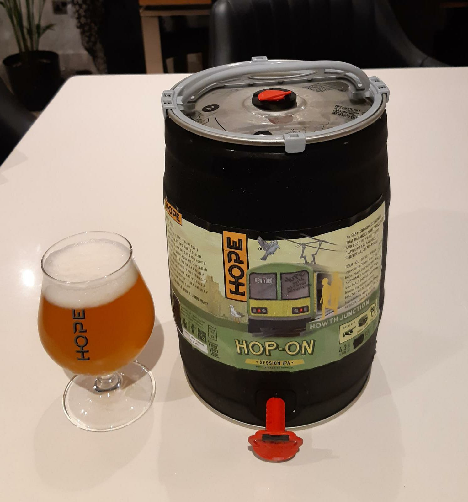 Hope Beer Hop-On Session IPA 4.6% ABV 5 Litre Mini Keg