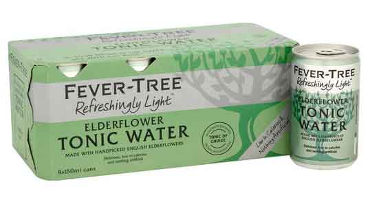 Martins Off licence Fever-Tree Elderflower Tonic Water 8 x 150ml Cans