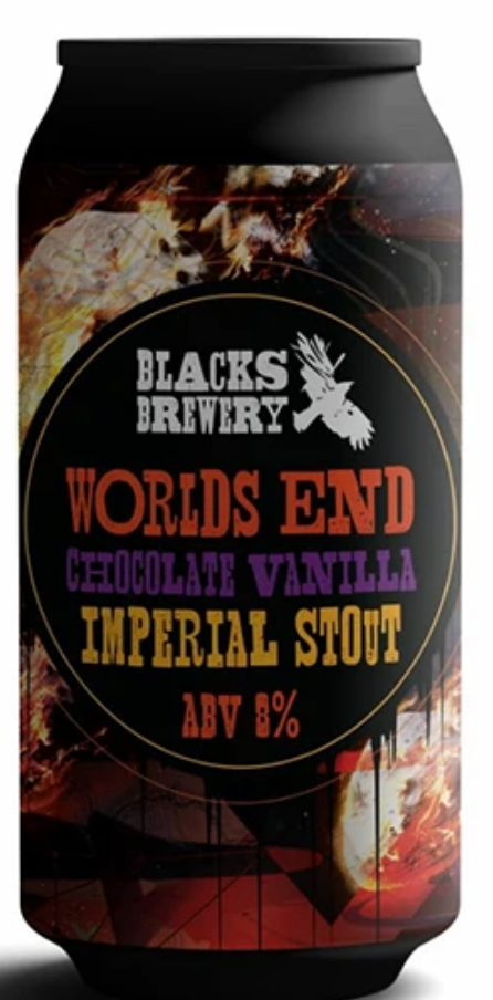 Blacks - World's End Chocolate Vanilla Imperial Stout 8.0% ABV 440ml Can