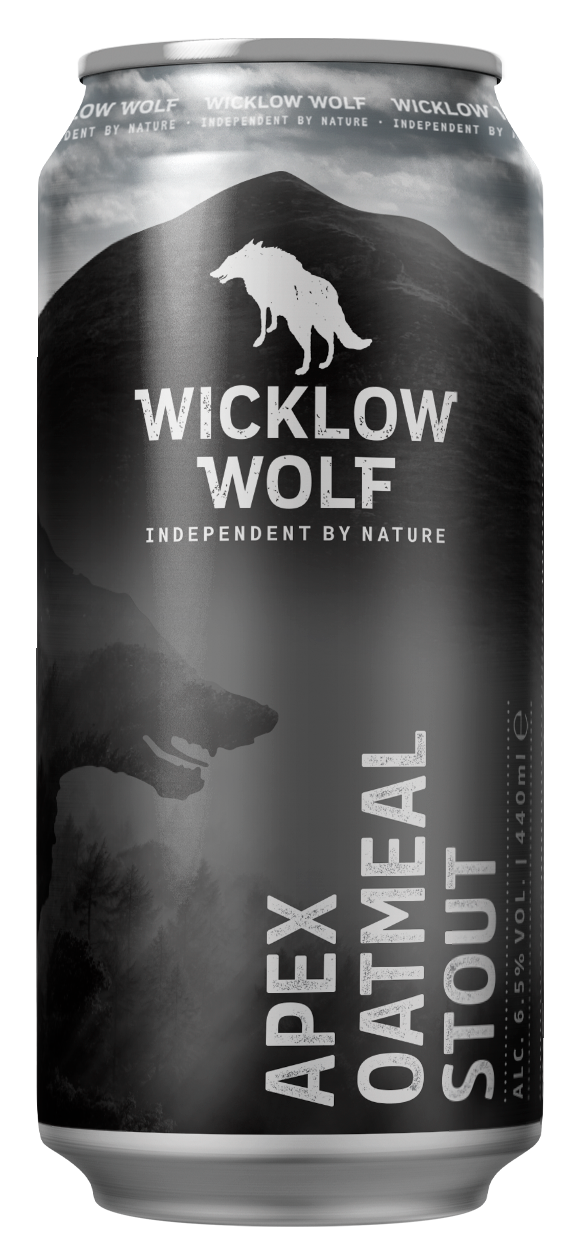 Wicklow Wolf - Apex Oatmeal Stout 4.8% ABV 440ml Can