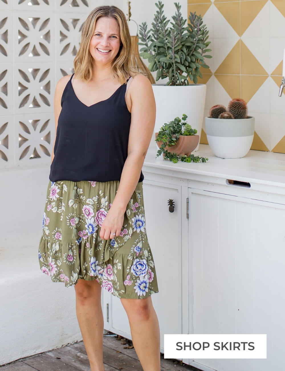 ruffle skirt by isle of summer
