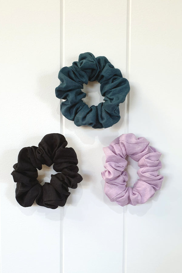 Linen Scrunchies 3 Pack