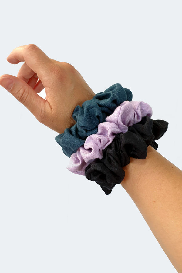Linen scrunchie 3 pack