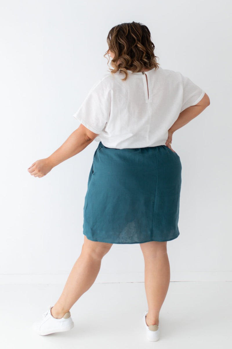 plus size skirt with pockets