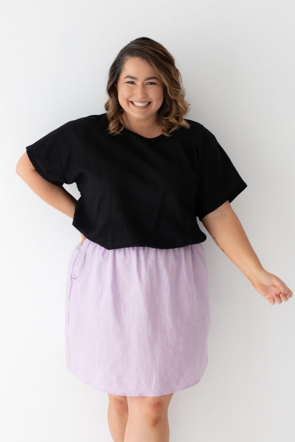 plus size linen top