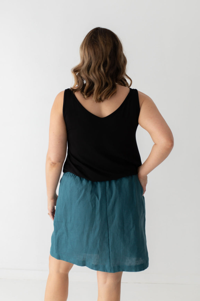 isle of summer linen skirt