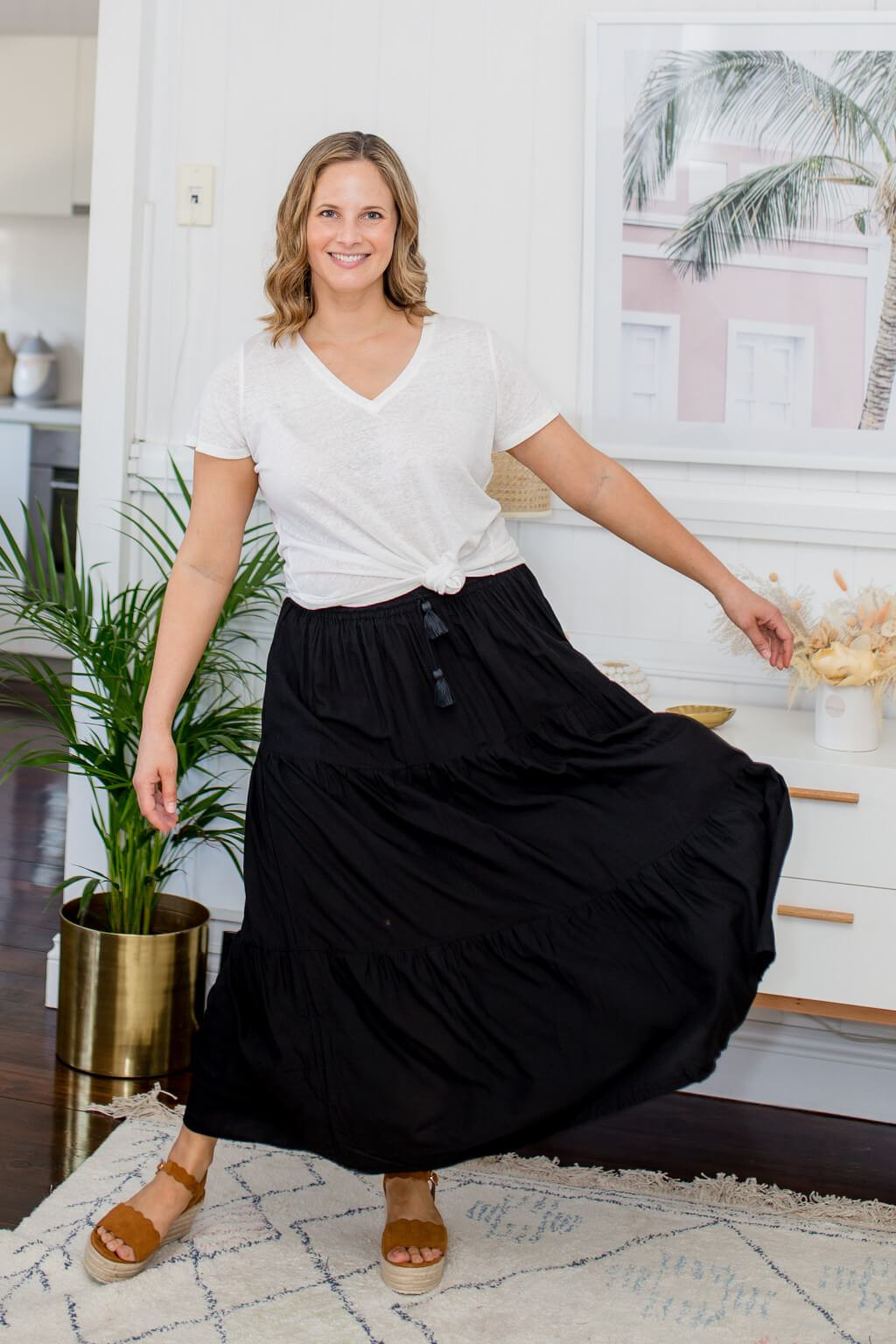 ethically made maxi skirt