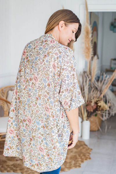 light and flowy cocoon kimono