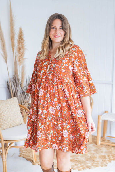 floral tunic dress ethically made