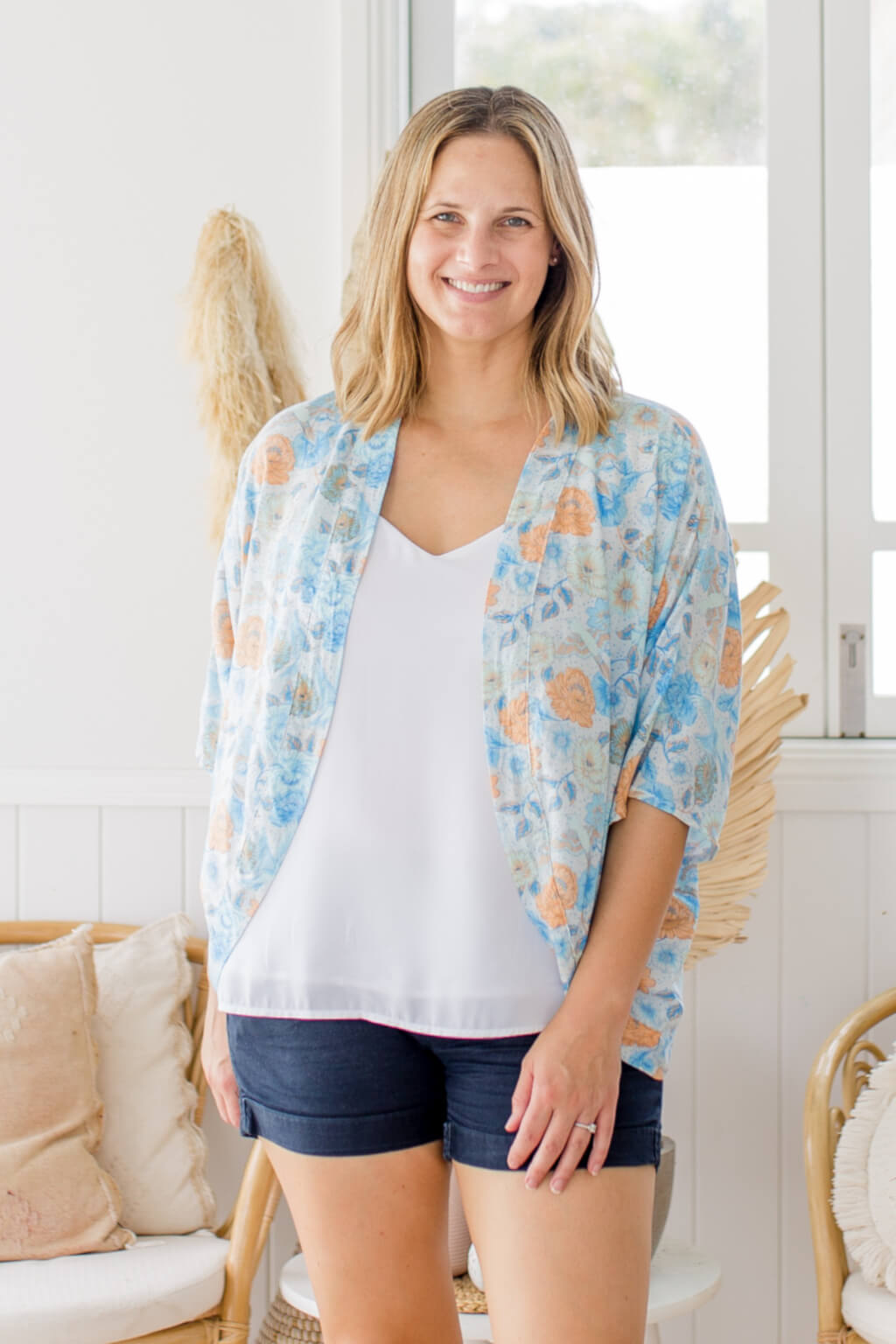 blue poppy birds shrug