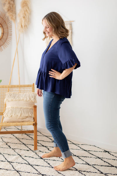 breastfeeding friendly blouse