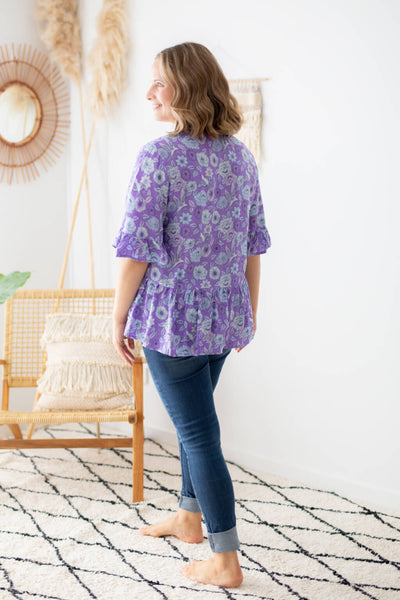 purple blouse top