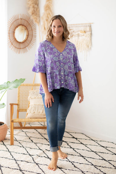 chloe blouse by isle of summer in purple