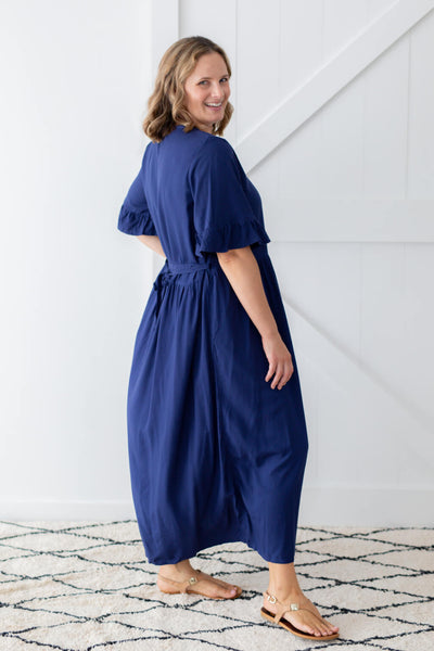 chloe maxi dress navy