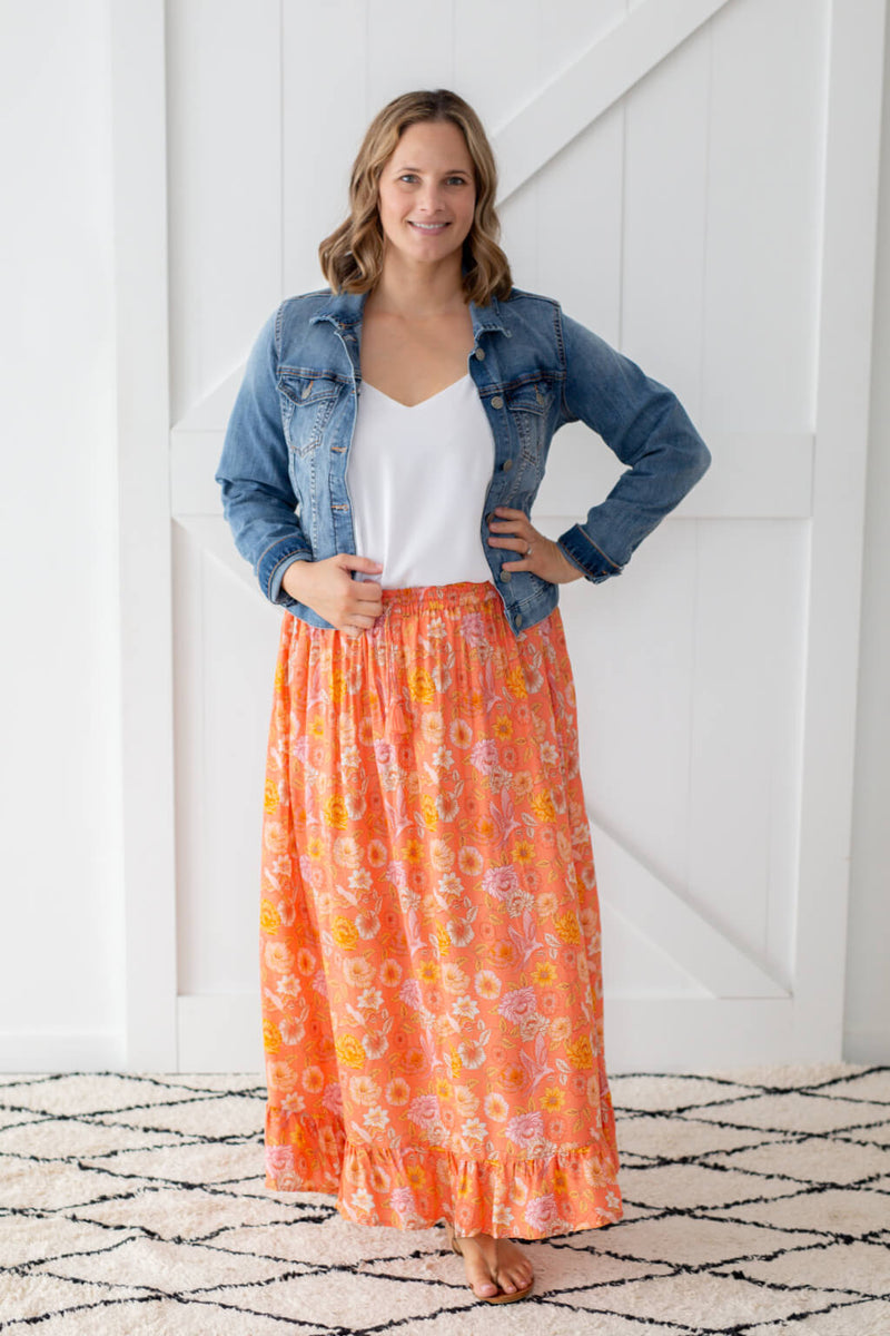 boho maxi skirt Alice in healthy land