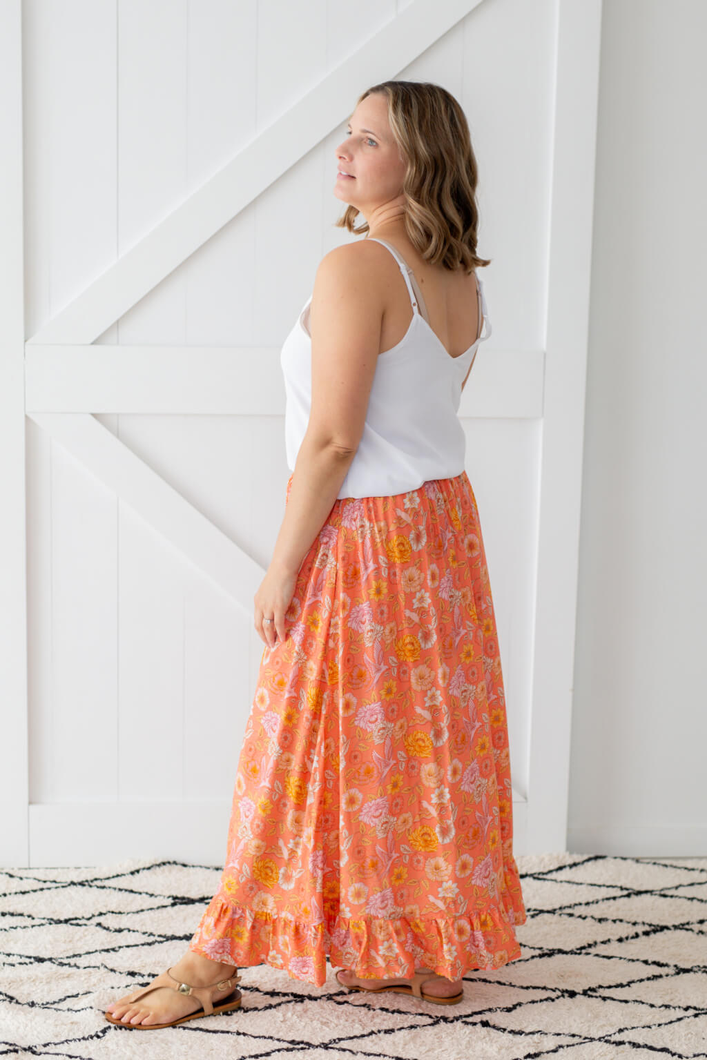 long maxi skirt with pockets