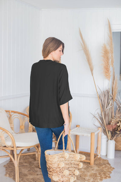 black cocoon shrug jacket